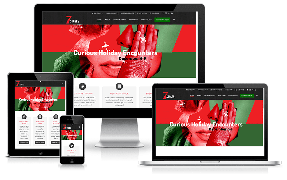 7 Stages Theater Website Mockup