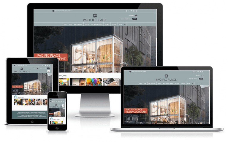 Pacific Place Website Mockup