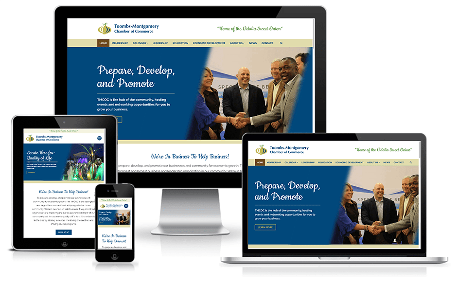 Toombs-Montgomery Chamber of Commerce Website Mockup